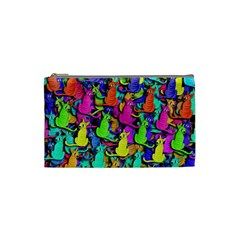 Colorful cats Cosmetic Bag (Small)