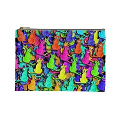 Colorful cats Cosmetic Bag (Large)