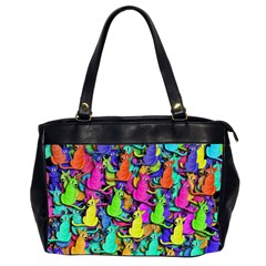Colorful cats Office Handbags (2 Sides)