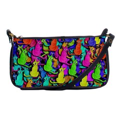 Colorful cats Shoulder Clutch Bags