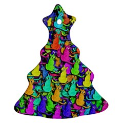 Colorful Cats Ornament (christmas Tree)