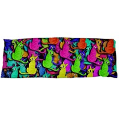 Colorful cats Body Pillow Case Dakimakura (Two Sides)