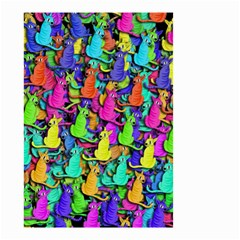 Colorful cats Small Garden Flag (Two Sides)