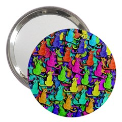 Colorful cats 3  Handbag Mirrors