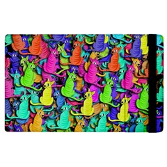 Colorful cats Apple iPad 2 Flip Case