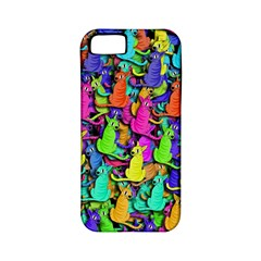 Colorful cats Apple iPhone 5 Classic Hardshell Case (PC+Silicone)