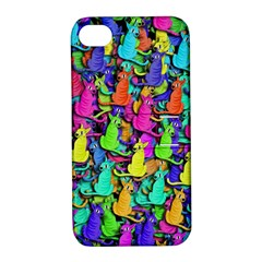 Colorful cats Apple iPhone 4/4S Hardshell Case with Stand