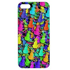 Colorful cats Apple iPhone 5 Hardshell Case with Stand
