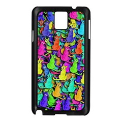 Colorful cats Samsung Galaxy Note 3 N9005 Case (Black)