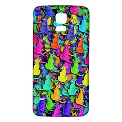 Colorful cats Samsung Galaxy S5 Back Case (White)