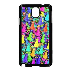 Colorful cats Samsung Galaxy Note 3 Neo Hardshell Case (Black)