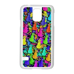 Colorful cats Samsung Galaxy S5 Case (White)