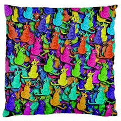 Colorful cats Standard Flano Cushion Case (Two Sides)