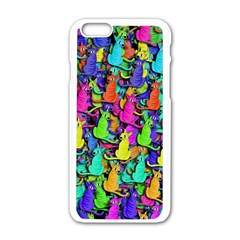 Colorful cats Apple iPhone 6/6S White Enamel Case