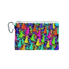 Colorful cats Canvas Cosmetic Bag (S)