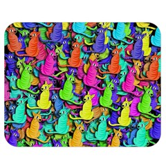 Colorful cats Double Sided Flano Blanket (Medium)