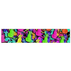 Colorful cats Flano Scarf (Small)