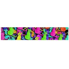 Colorful cats Flano Scarf (Large)