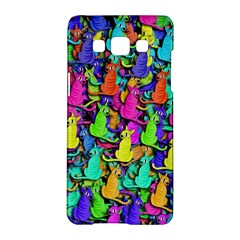 Colorful cats Samsung Galaxy A5 Hardshell Case