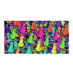 Colorful cats Satin Wrap