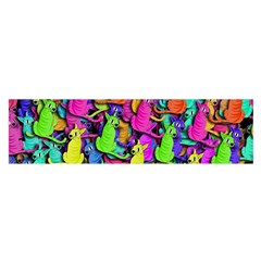 Colorful cats Satin Scarf (Oblong)
