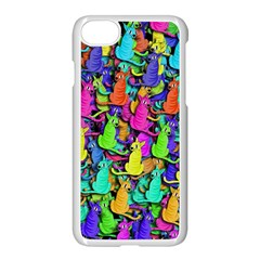Colorful Cats Apple Iphone 7 Seamless Case (white)