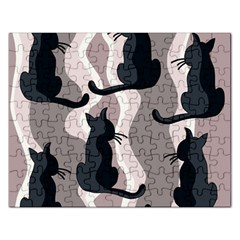 Elegant cats Rectangular Jigsaw Puzzl