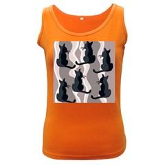 Elegant cats Women s Dark Tank Top