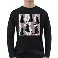 Elegant cats Long Sleeve Dark T-Shirts
