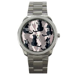 Elegant cats Sport Metal Watch