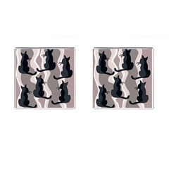 Elegant cats Cufflinks (Square)