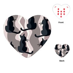 Elegant cats Playing Cards (Heart)