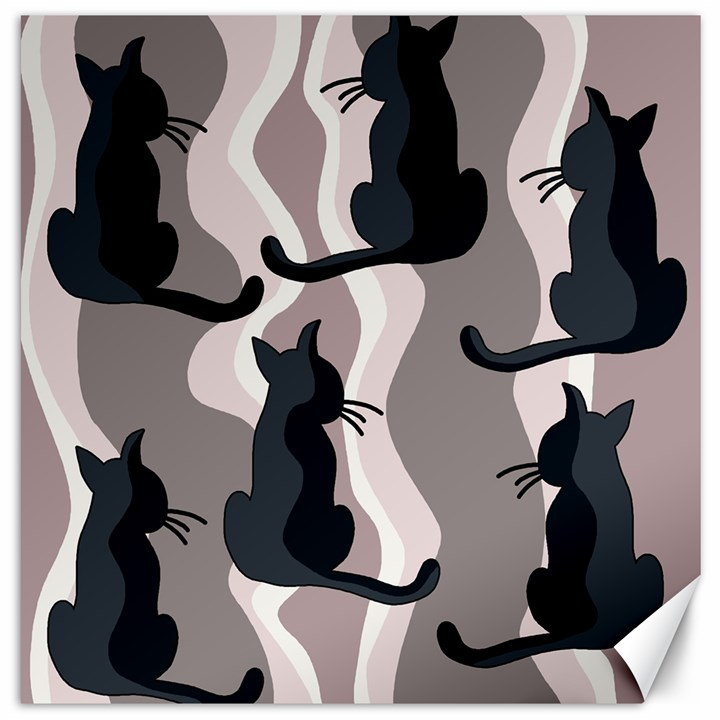 Elegant cats Canvas 20  x 20