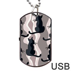 Elegant cats Dog Tag USB Flash (One Side)