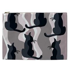 Elegant cats Cosmetic Bag (XXL)