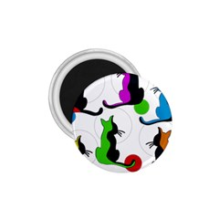 Colorful abstract cats 1.75  Magnets