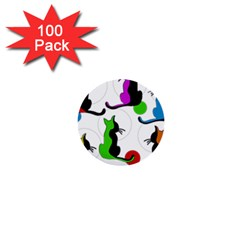 Colorful abstract cats 1  Mini Buttons (100 pack)