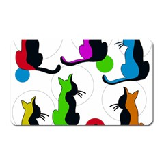 Colorful abstract cats Magnet (Rectangular)
