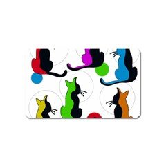 Colorful abstract cats Magnet (Name Card)