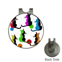 Colorful abstract cats Hat Clips with Golf Markers