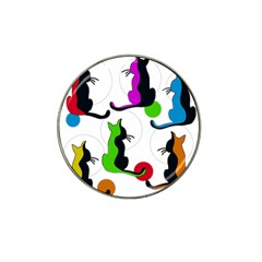 Colorful abstract cats Hat Clip Ball Marker (10 pack)