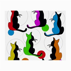 Colorful abstract cats Small Glasses Cloth (2-Side)