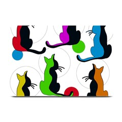 Colorful abstract cats Plate Mats