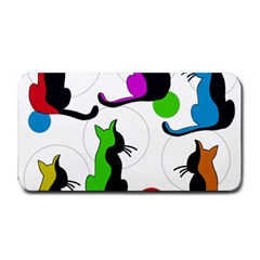 Colorful abstract cats Medium Bar Mats