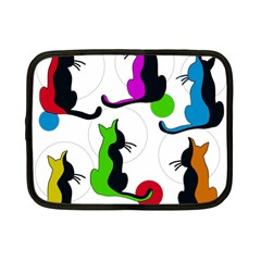 Colorful abstract cats Netbook Case (Small)