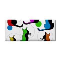 Colorful abstract cats Cosmetic Storage Cases