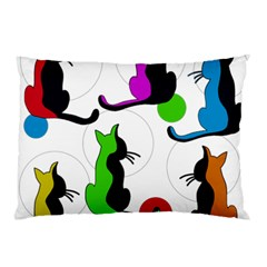 Colorful abstract cats Pillow Case