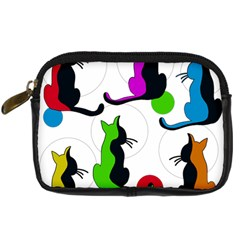 Colorful abstract cats Digital Camera Cases