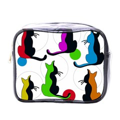 Colorful abstract cats Mini Toiletries Bags