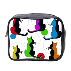 Colorful abstract cats Mini Toiletries Bag 2-Side